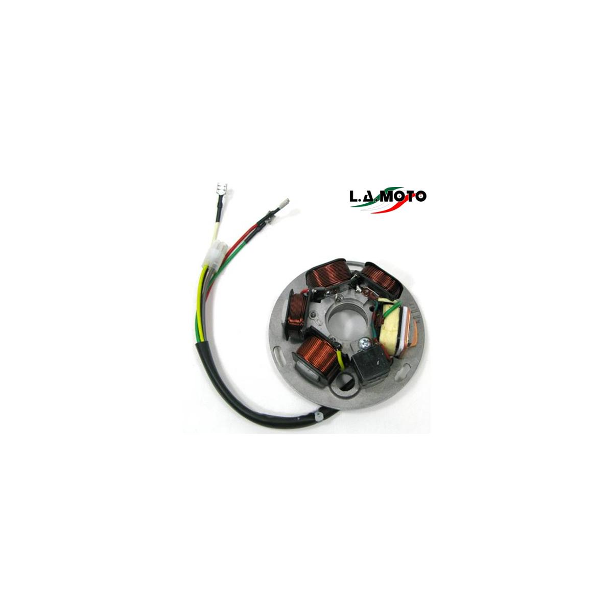 Statore 6 poli con piastra per motori PIAGGIO VESPA PX 125 150 200 r.o. 497652 / 217866