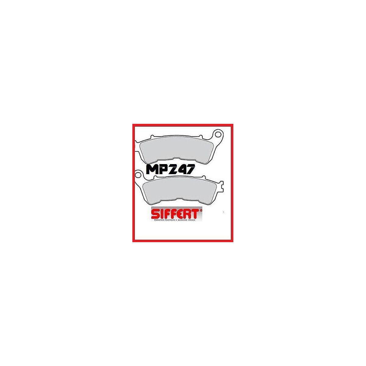 PASTIGLIE SIFFERT MP 247 ANTERIORI HONDA SH 125 E 150  2009 —> SH 300 TIPO ORIGINALE