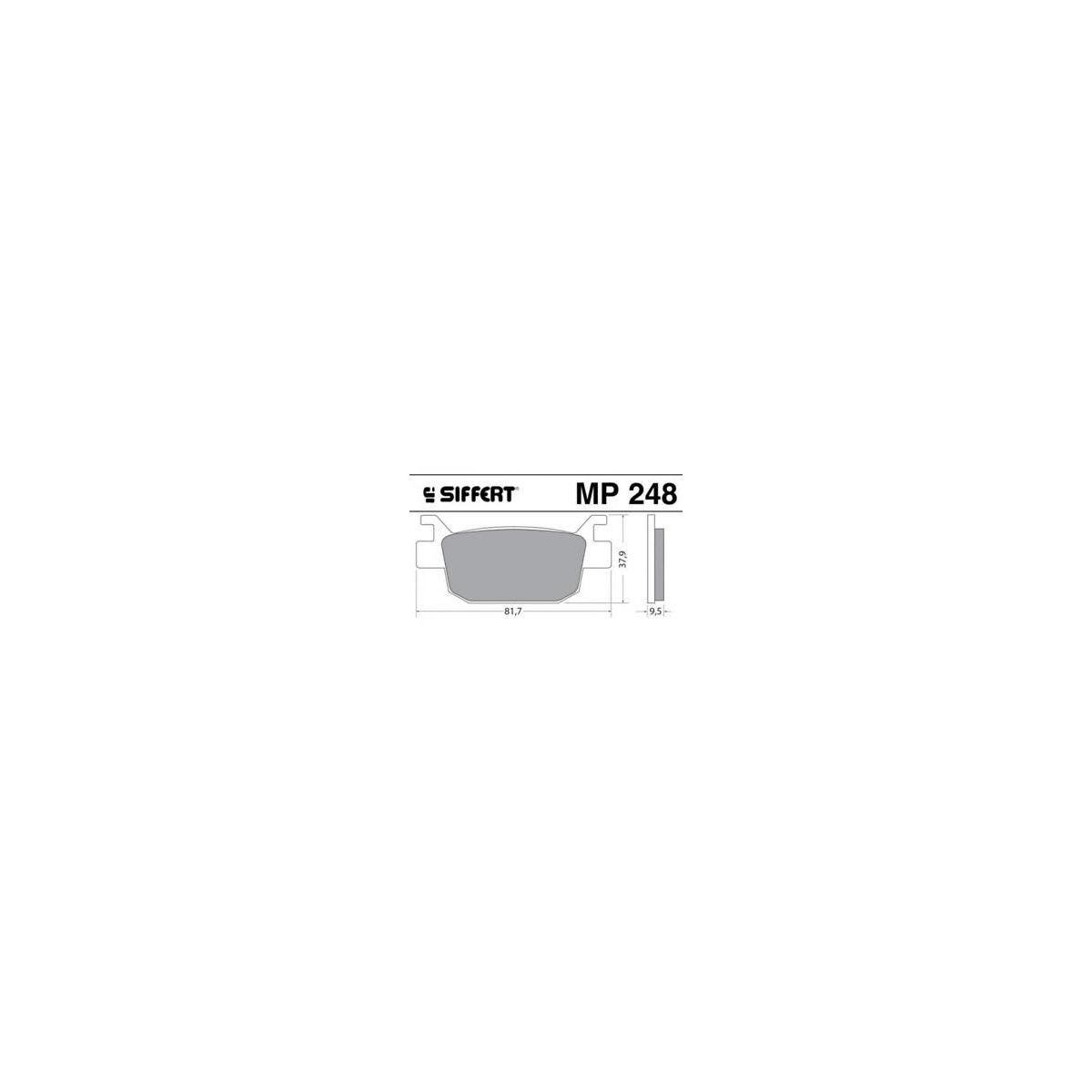 PASTICCHE  PASTIGLIE SIFFERT MP 248 HONDA HONDA NNS 250  Monta Posteriore