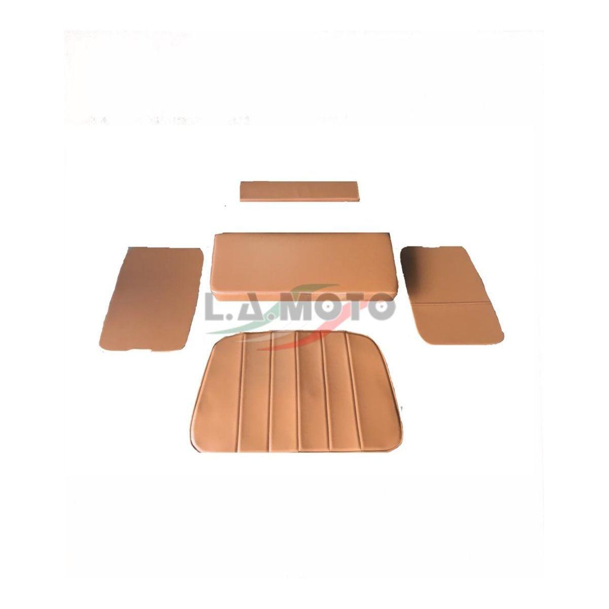 Kit tappezzeria in pelle marroncino per interno cabina ape mp