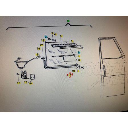 154779 – GUARNIZIONE FINESTRINO APE 50 TM P FL FL2 RST MIX