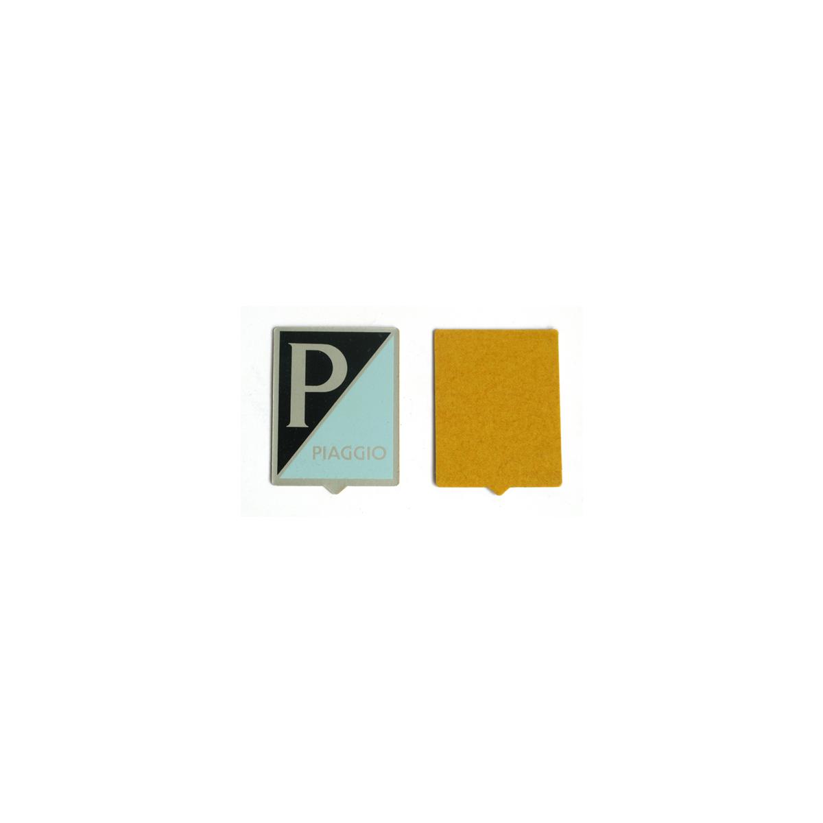 Scudetto stemma PIAGGIO grande in allumino adesivo per VESPA 125 150