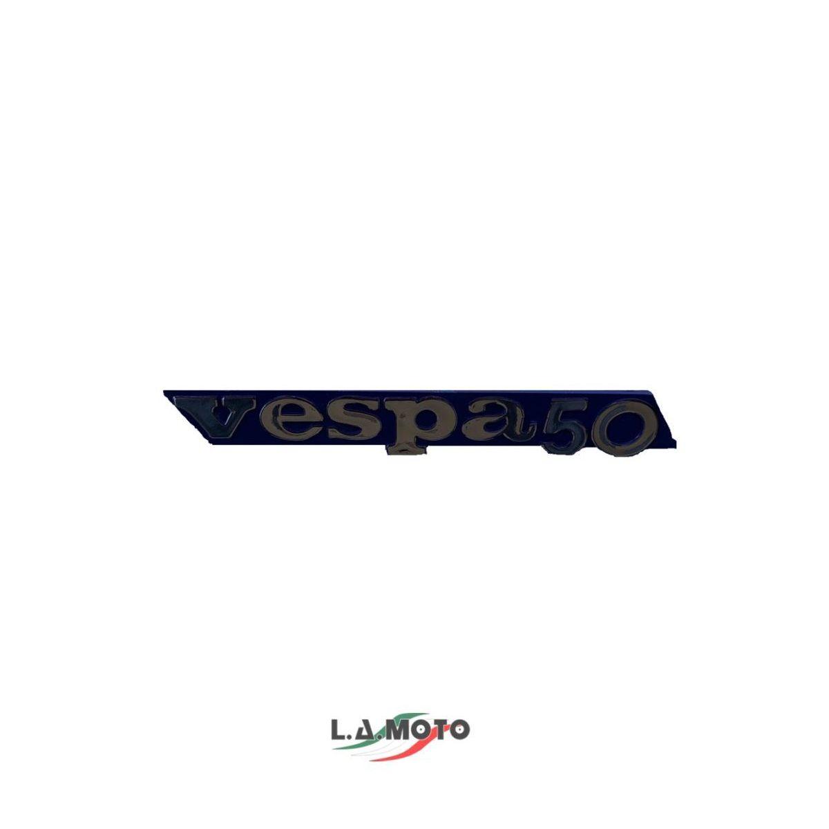 Emblema scritta targhetta laterale in plastica per vespa 50 fl fl2 hp R.O. 259393