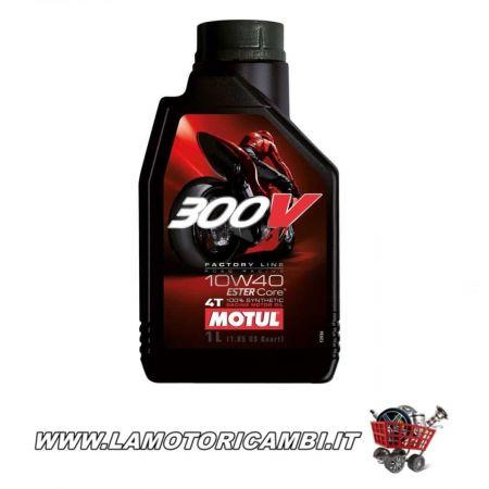 1 LT OLIO MOTUL 300V FACTORY LINE ROAD RACING ESTER CORE 10W40 100% SINTETICO 4T