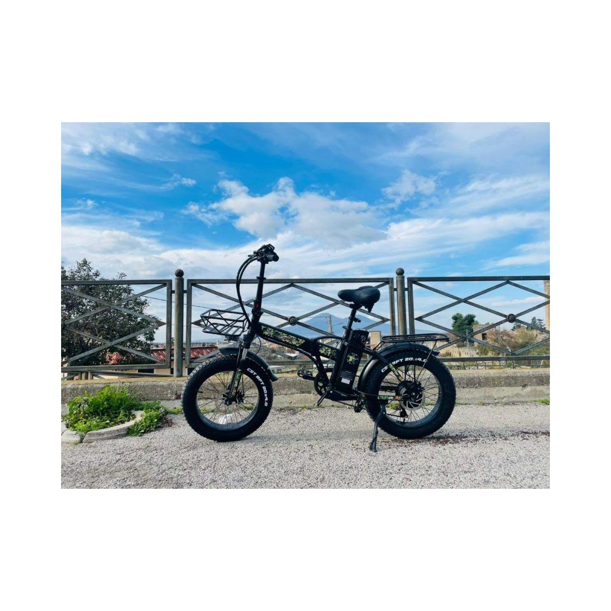 Fat Bike 750w Jeep Class Militar E-Bike 20′ Bicicletta Bici pieghevole elettrica 48V Nero opaco