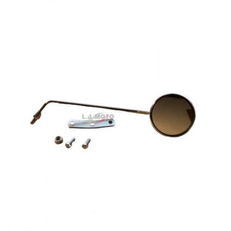 Specchio retrovisore destro cromato diametro mm. 100 altezza asta mm 330 per VESPA 50 80 125 150 180 200 SPECIAL N L R PE PX PK