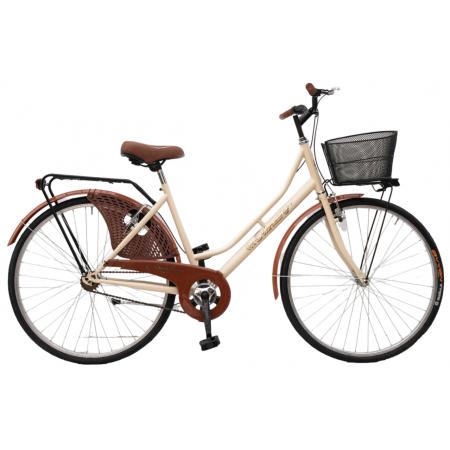 Bicicletta Donna da Passeggio Olanda Misura 26 Bici da città Vintage retrò con Cestino Beige