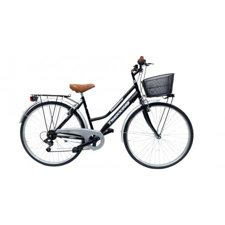 Bicicletta Donna da Passeggio Olanda Misura 26 Bici da città Vintage retrò con Cestino Nero Con Cambio