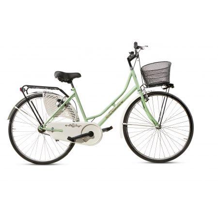 Bicicletta Donna da Passeggio Olanda Misura 26 Bici da città Vintage retrò con Cestino Verde