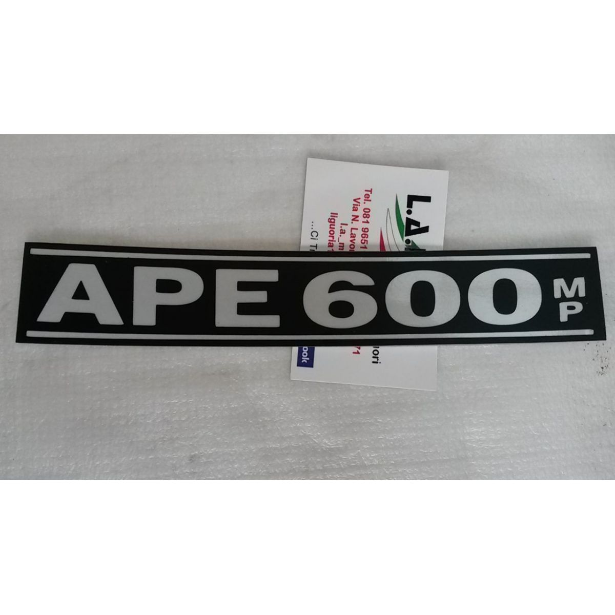 Targhetta anteriore ape mp 600