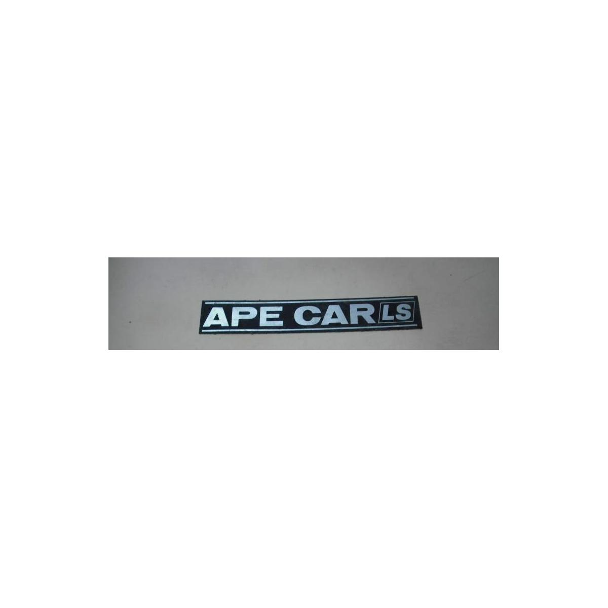 Scritta ape car