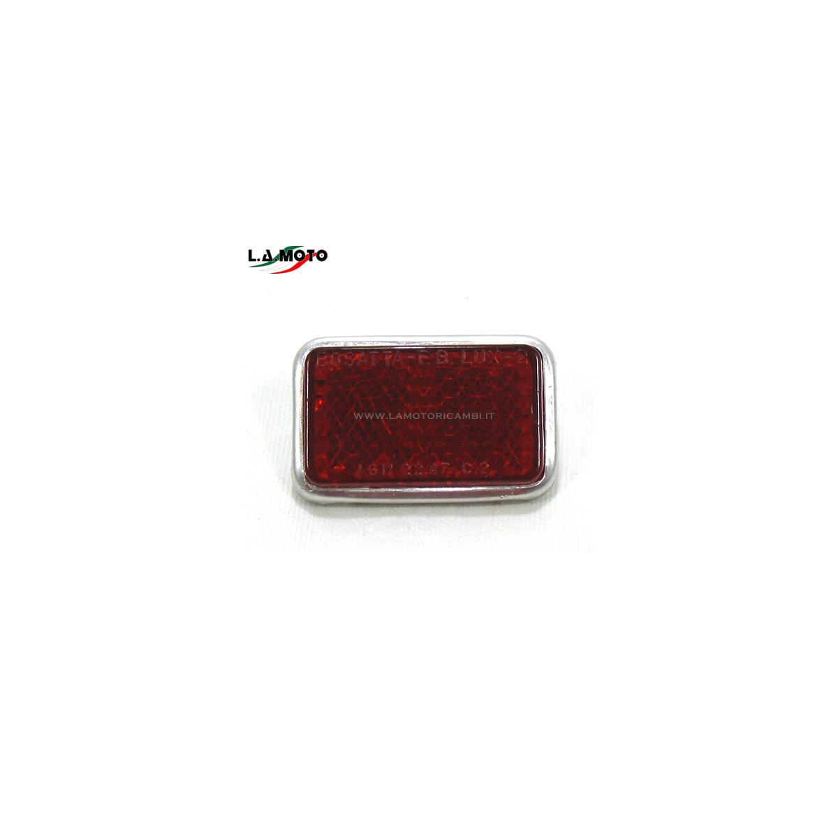 Catadriotto Posteriore Rosso Rettangolare per VESPA APE e LAMBRETTA