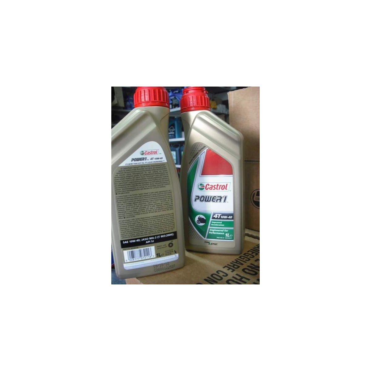 Olio castrol power 1 4t 10w-40