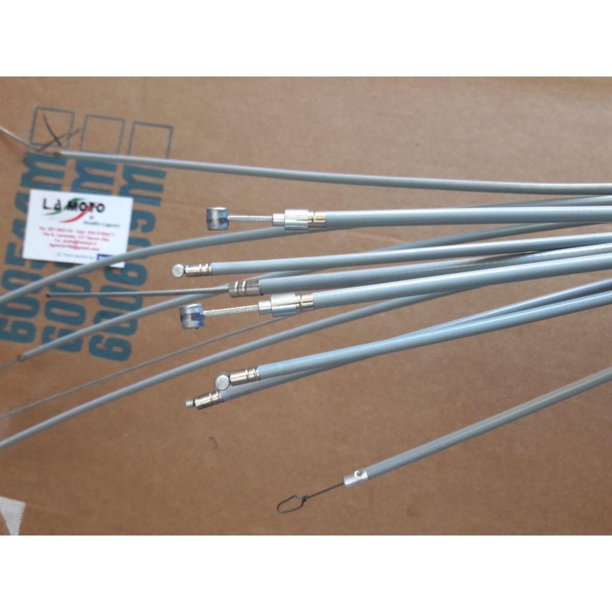 Serie cavi 7 pezzi grigi in teflon per trasmissioni VESPA 125 150 160 180 200 cc. VNB VNA VBB VBA SPRINT RALLY TS GTR SPRINT VEL