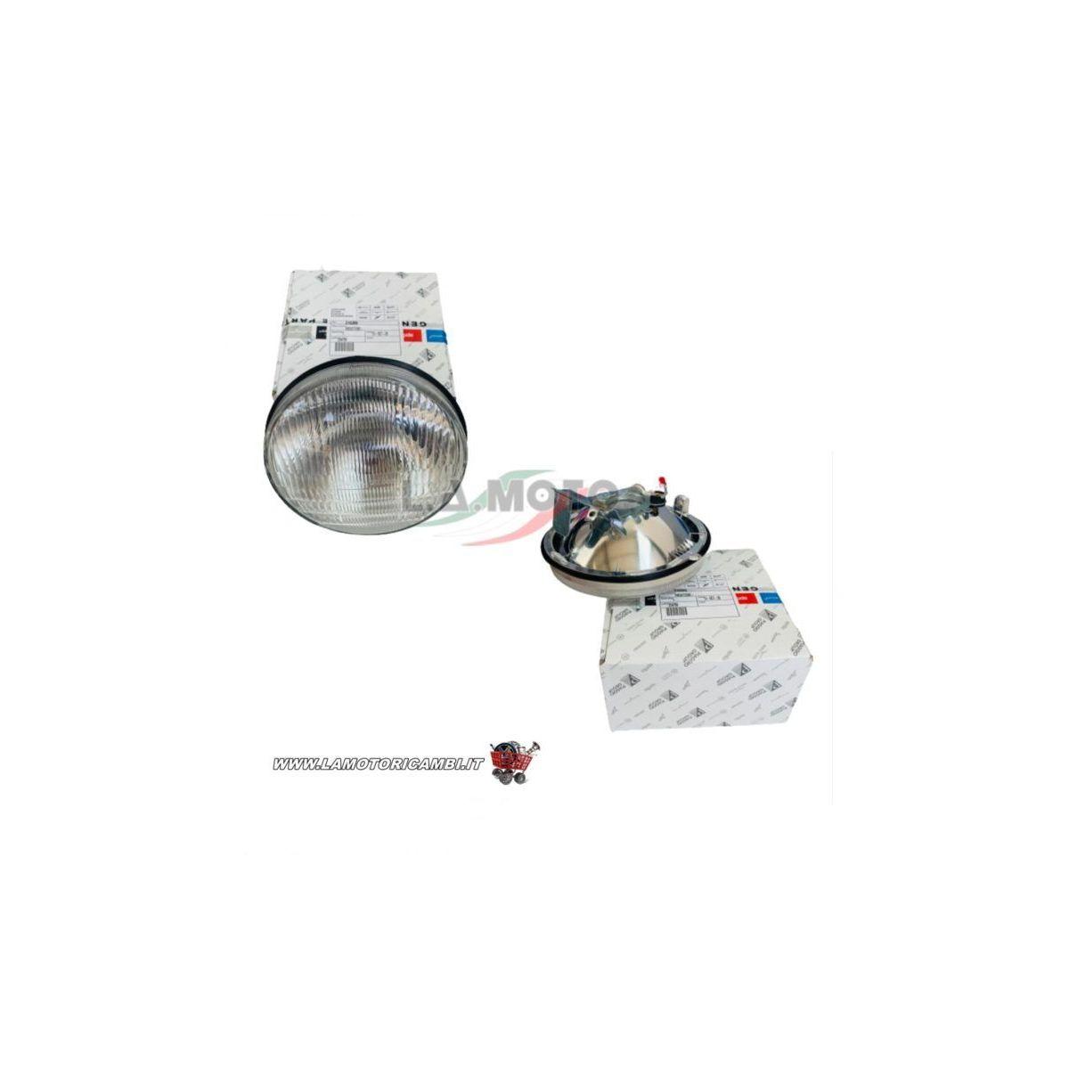 215399- Gruppo ottico faro anteriore TRIOM originale piaggio per VESPA 50 PK XL