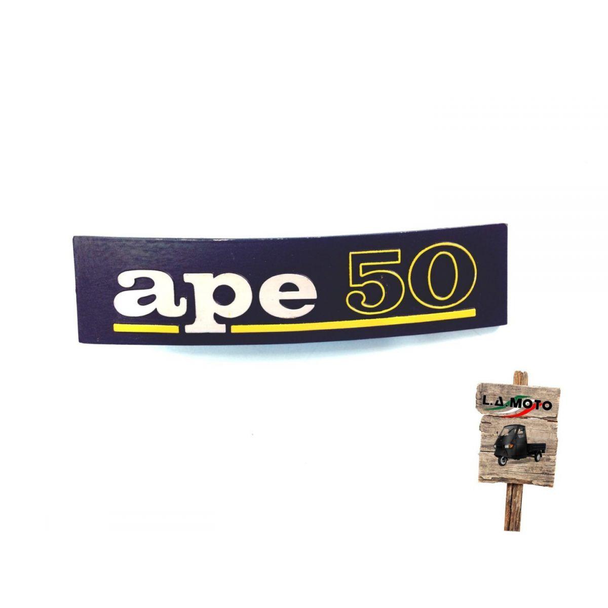 Scritta anteriore targhetta Ape 50