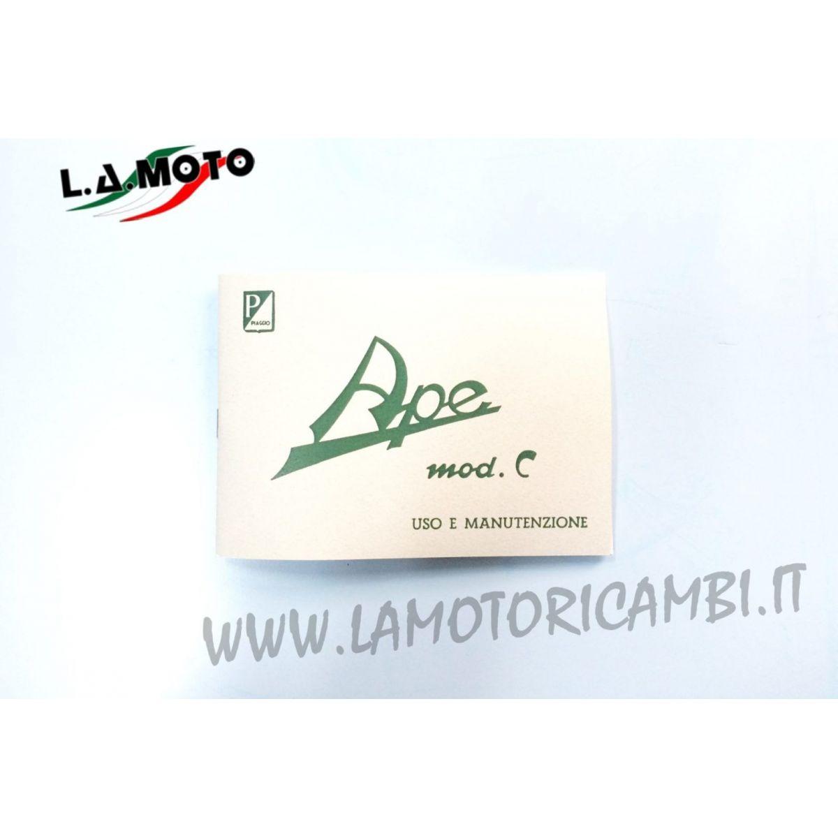 LIBRETTO USO E MANUTENZIONE PER PIAGGIO APE C 150 AC1T AC2T AC3T AC4T AC5T