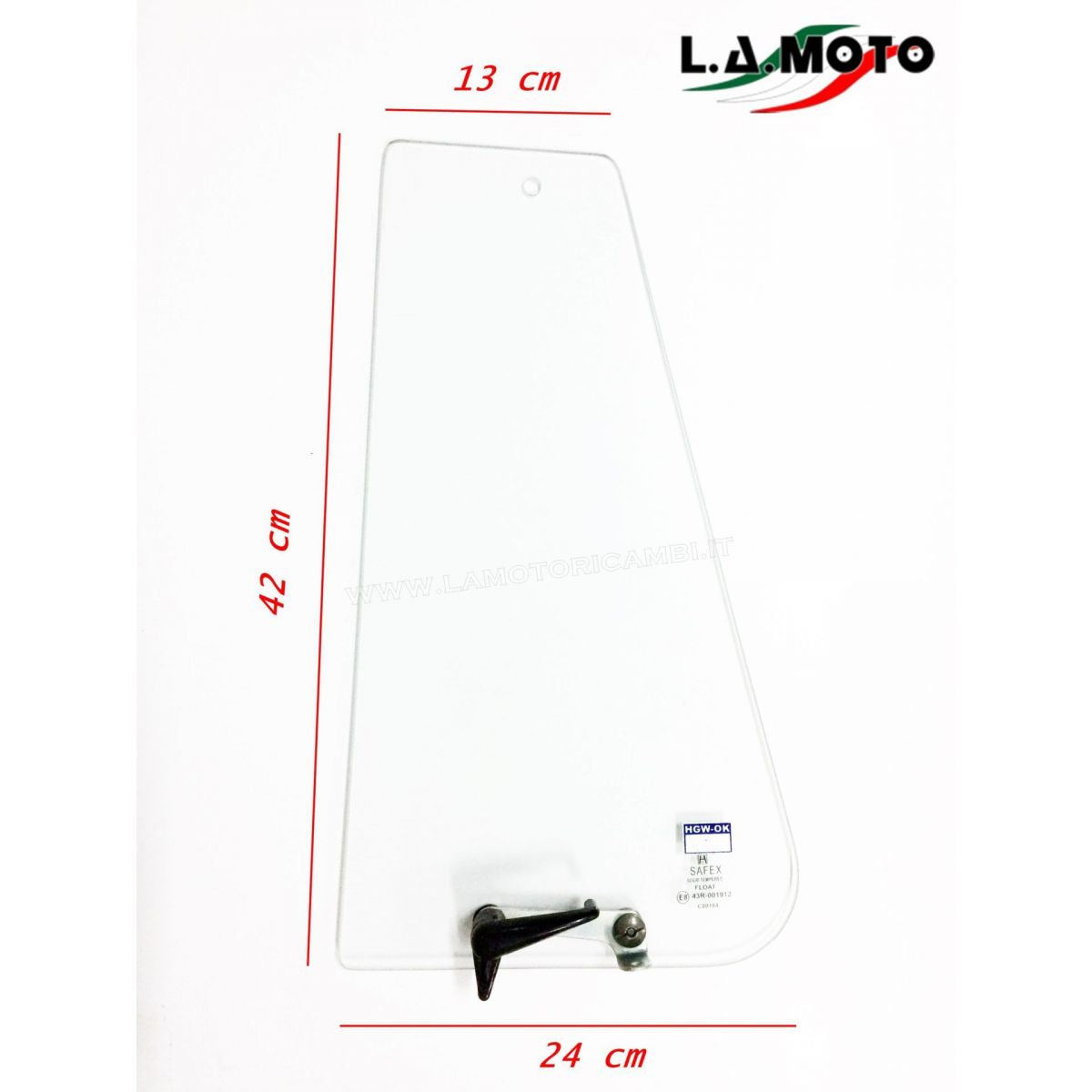 DEFLETTORE SINISTRO COMPLETO PER PIAGGIO APE MP 501 601