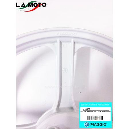CERCHIO RUOTA ANTERIORE BIANCO IN LEGA PER PIAGGIO SI ORIGINALE PIAGGIO 414577